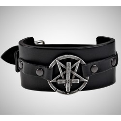 Pentagram cross bracelet