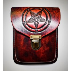 Baphomet belt bag - red