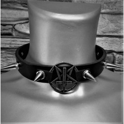 Pentagram cross collar